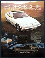 "1977 Porsche 924 Coupe photo ""Rethinks the Sportscar"" vintage print ad"