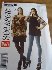 "PATRON ""BUTTERICK TEE SHIRT TUNIQUE     T XS A XXL  N°5974  ()"