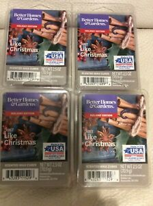 Better Homes & Gardens 4 Boxes Just Like Christmas Scented Wax Melts  Red