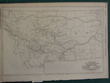 1922 LARGE AMERICA MAP ~ MONTANA MILEAGE RAILROADS ELECTRIC LINES  RAND MCNALLY