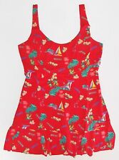 New Hollister Abercrombie Red Tropical Summerland Dress Womens Size Medium NWT