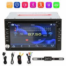 Double 2Din Car Stereo DVD Player GPS Navigation Bluetooth iPOD TV+Backup Camera