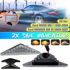 Dynamic LED Side Marker Indicator Repeater Light For Ford Focus Mk1 Mondeo Mk3