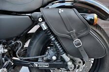 SADDLE BAGS LEFT&RIGHT SIDE FOR HD SPORTSTER MODELS ITALIAN QUALITY LEATHER