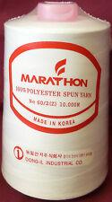 Marathon Embroidery Machine Bobbin Thread 10,000m White 60/2 Brother Machines
