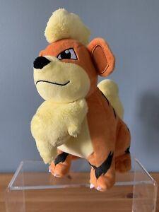 "Pokemon Growlithe WCT Plush Soft Toy 10"" fire dog type"