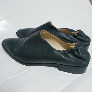 Jil Sander Navy Grant Nappa Leather Loafer moccasins black Size 40 or 9.5