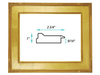 "Classic Plein Air Picture Frames Hand Applied Gold Leaf Finish 2 3/4"" wide"