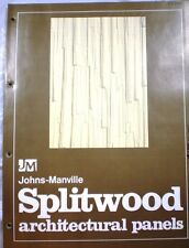 Johns Manville ASBESTOS Splitwood Architectural Panels