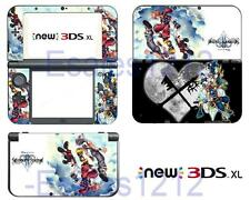 Anime Kingdom Hearts 3 Vinyl Skin Stickers Decals for Nintendo New 3DS XL 2015
