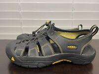 KEEN  Newport Black Leather Waterproof Sport Hiking Sandals Mens Size 6