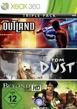 XBOX 360 Triple Pack OUTLAND FROM DUST BEYOND  GOOD AND EVIL Sehr guter Zustand