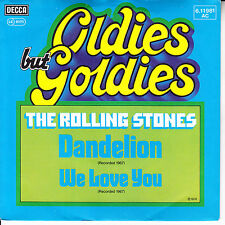 """ROLLING STONES  Dandelion & We Love You  SOLID SLEEVE 7"""" 45 rpm record NEW"""