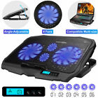 Dual USB Cooling Pad LED Light Radiator 4 Fans Cooler Stand Laptop PC Notebook