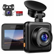 APEMAN In Car Dual Dash Cam 1080P Full HD Dashboard Camera DVR 170 Wide Angle