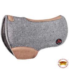 Hilason Western Wool Felt Horse Saddle Pad W/ Distressed Wear Leather U-01Lt