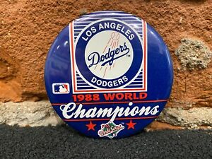 1988 Los Angeles Dodgers World Champions Vintage Button