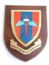 45 Commando Recce Troop Royal Marines Military Wall Plaque UK Made for MOD