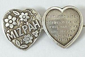 VERY PRETTY ANTIQUE HALLMARKED SILVER MIZPAH BROOCH PIN 1898