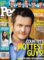 People Country Special Magazine Hottest Guys Blake Shelton Hillary Scott Wedding