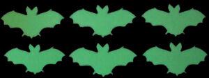6 Hotfix Bügelpailletten Fledermaus zum Aufbügeln Nachtleuchtend
