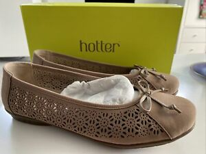 HOTTER «PRECIOUS» BROWN SUEDE SLIP ON SHOES SIZE 7.5 STANDARD FIT VGC WORN ONC
