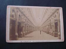 CABINET CARD CDV BRUXELLES  GALERIES SAINT HUBERT  XIXeme SIECLE  PHOTOGRAPHE  ?