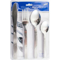 16PC STAINLESS STEEL CUTLERY SET KITCHEN DINING TABLE TEA SPOON 12024
