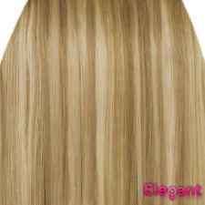 Extensions de cheveux à clips blonds pour femme