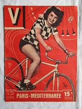 V MAGAZINE 181 année 1948 PIN UP KETTY KERVIEL PARIS-MEDITERRANNEE