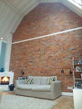 brick slips brick tiles  reclaimed 19th century clay dark red with mortar