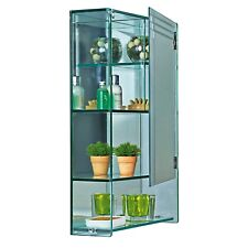 Wall Mounted Glass Bathroom Cabinet 4 Tier Storage Unit  Marritimo