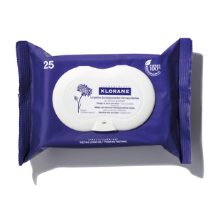 Klorane Make-up Remover Biodegradable Wipes With Soothing Cornflower 25 Wipes