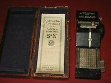 Rechenmaschine mit Box Seidel & Naumann Dresden mit original Gebrauchsanleitung