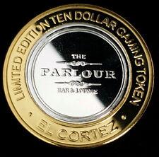 2012 S El Cortez Casino Silver Strike $10 The Parlour Bar & Lounge Token 4EC1225