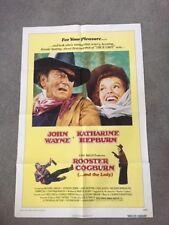 JOHN WAYNE/KATHARINE HEPBURN VINTAGE ORIGINAL MOVIE POSTER FOR ROOSTER COGBURN