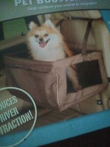 Pet Dog Car booster seat Travel Folding Puppy Portable Carrier and Safety Leash