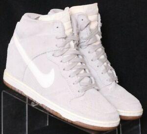 Nike 528899-003 SB Dunk Sky Hi Pale Grey Suede Sneaker Shoes Women's US 7