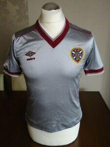 "HEART of MIDLOTHIAN Original 1983 UMBRO Away Shirt 34-36"" Rare Vintage HEARTS"