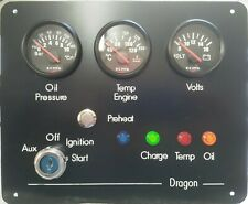 Marine, Fishing boat, Yacht, RIB, Narrowboat 3 gauge instrument panel UK Made