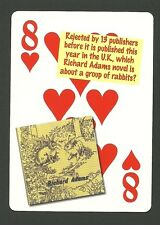 Richard Adams Author Watership Down Neat Playing Card #2Y7