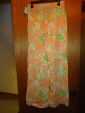 Lilly Pulitzer Gia Pant Printed Linen Pants S Small NWT