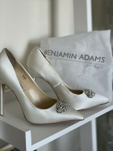 benjamin adams wedding shoes size UK 3 in white with jewels