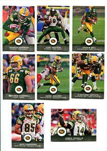 2016 CFL Edmonton Eskimos Lot of 8 Cards Adarius Bowman, Franklin, Bell More