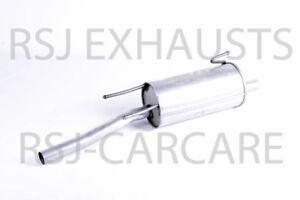 EXHAUST SILENCER VAUXHALL COMBO Mk II (C) 1.7 DTI 16V Diesel 2001-10-> 2011-11