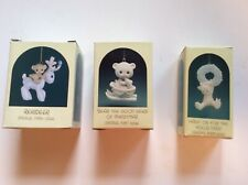 Lot of 3 Precious Moments Special Issue Ornaments, 1986, 1987 & 1988