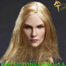 "1/6 Female Head Sculpt Blonde Hair For 12"" Phicen TBLeague Female Figure ❶USA❶"