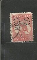 Perfins Perfin Australia Australien  Stamps Briefmarken Sellos Timbres
