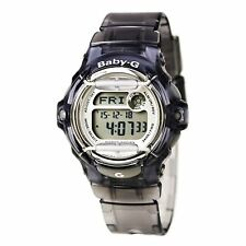 Casio Women's Watch Baby-G Digital Dial Transparent Grey Resin Strap BG169R-8