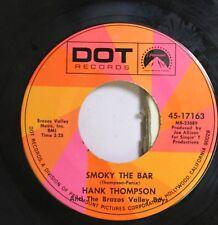 Country 45 Hank Thompson - Smoky The Bar / Clubs, Spades, Diamonds, And Hearts O